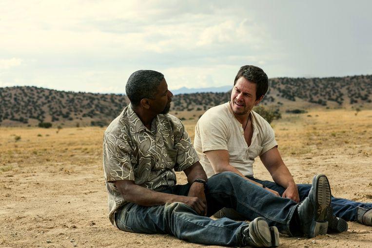 Denzel Washington (links) en Mark Wahlberg in 2 Guns. Beeld