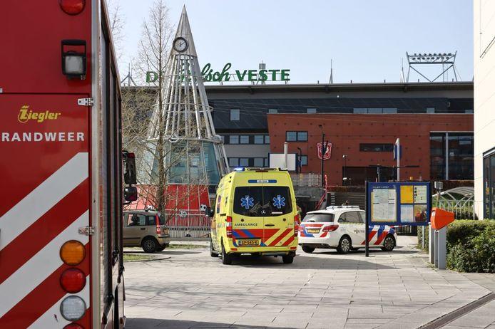 Hulpdiensten ter plaatse bij Station Kennispark
