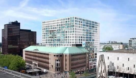 Het oude ontwerp van Rem Koolhaas voor Forum Rotterdam.