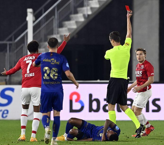 Svensson krijgt direct rood tegen VVV Venlo.