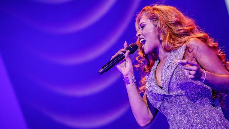 Glennis Grace tijdens een show in de Ziggo Dome eerder dit jaar. Beeld anp