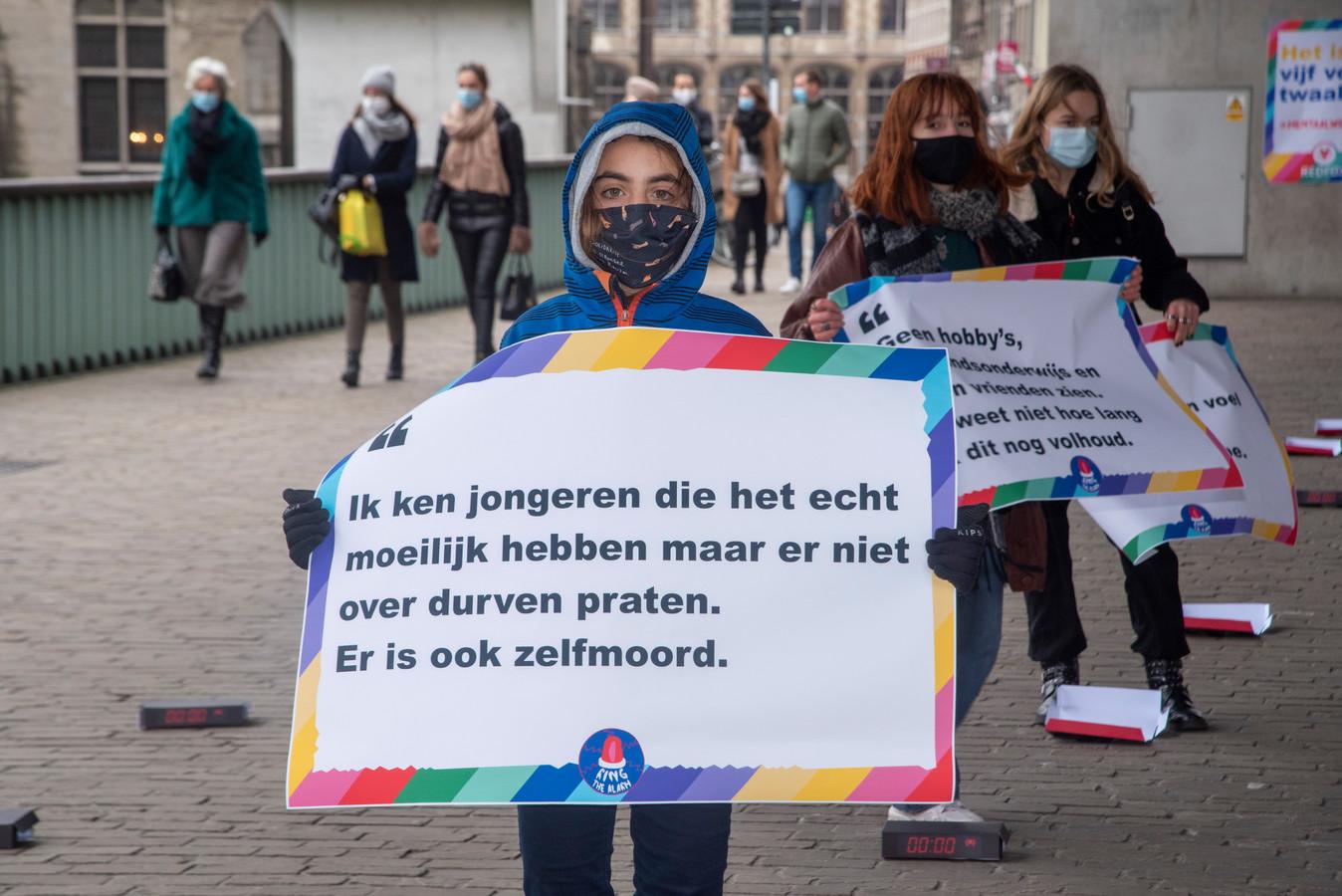 Jongeren van Redfox vragen aandacht voor hun mentaal welzijn.