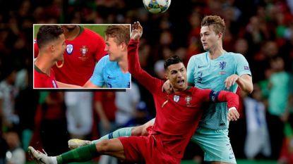 """Ronaldo probeert De Ligt te strikken na laatste fluitsignaal in Porto: """"Ik heb niets gezegd"""""""