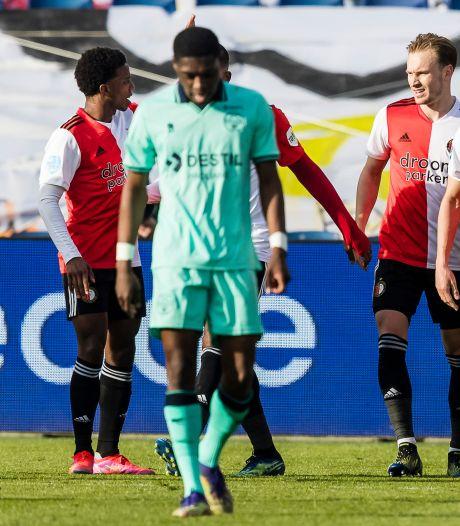 Willem II krijgt na goede eerste helft flinke jas van Feyenoord