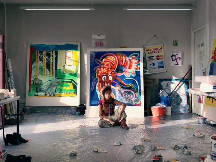 Jolijn Baeckelandt in haar atelier.