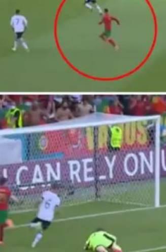 In 17 seconden aan de overkant om te scoren: Ronaldo, ook goed voor no look-hakje, maakt weer indruk