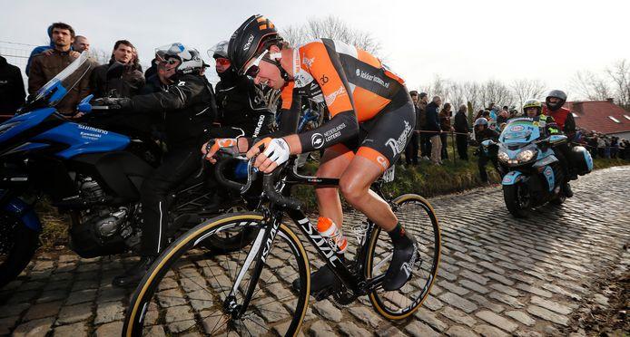 Brian van Goethem stoept in 2017 op de pedalen in de Omloop van 2017, waarin hij zijn beste klassering noteerde (43ste).
