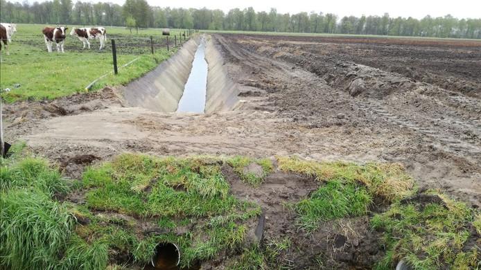 Door de vrijwillige kavelruil kon op sommige plekken rond Hardenberg ook de waterhuishouding van kavels worden verbeterd.