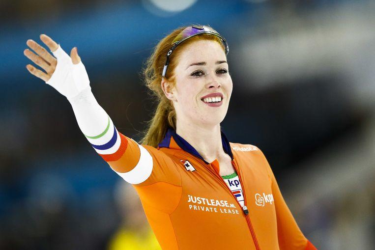 Antoinette de Jong zorgde voor een verrassing door de 3000 meter te winnen. Een uitschieter in het Nederlandse kamp. Beeld ANP