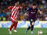 Rode kaart en puntenverlies voor Barcelona in derby