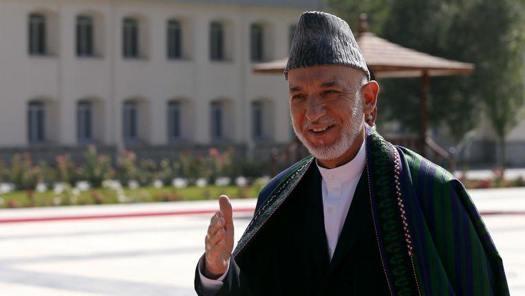 De president van Afghanistan, Hamid Karzai. Beeld reuters