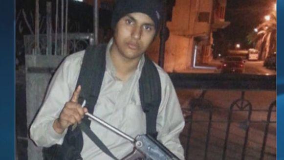 Abdellah Nouamane als jonge IS-strijder.