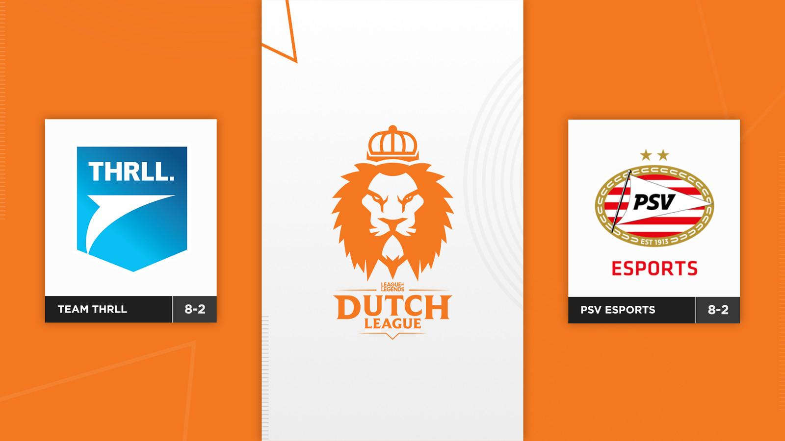 De play-offs van de Dutch League beginnen met Team THRLL tegen PSV Esports. De twee teams strijden om een plek in de finale.
