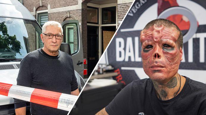 Boban Jaspers (links) ontsnapte aan een vuurzee via de dakgoot. Henry (rechts) is een opvallende verschijning.