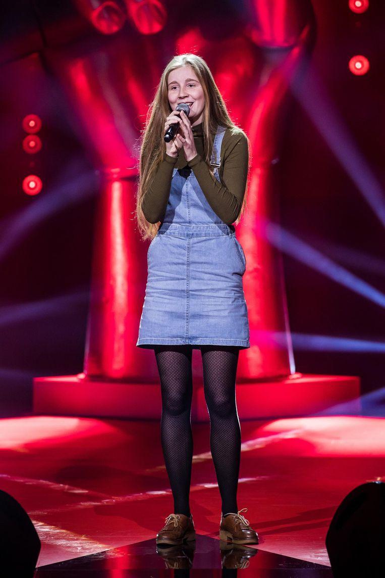 Merel Velle tijdens haar performance.
