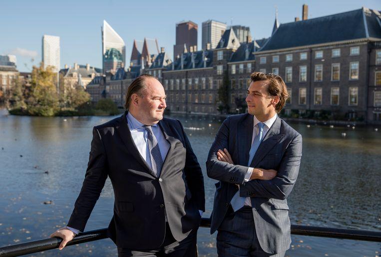 Henk Otten en Thierry Baudet. Beeld Bart Maat/ANP