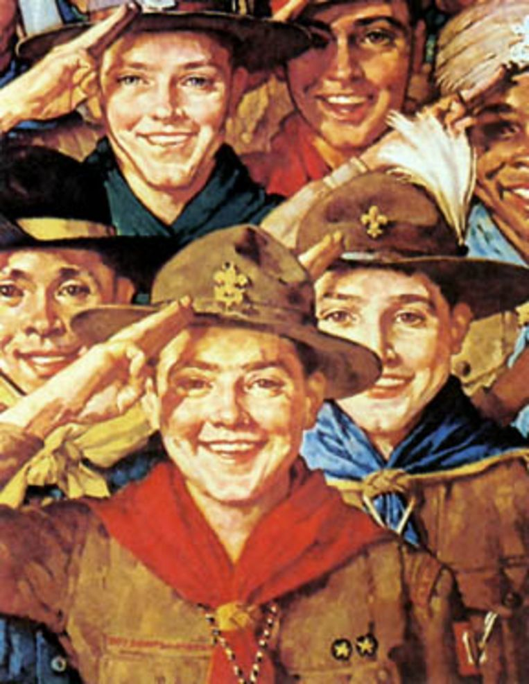 Norman Rockwell (1894-1978) - 'An Army of Friendship' (1933) Beeld Norman Rockwell