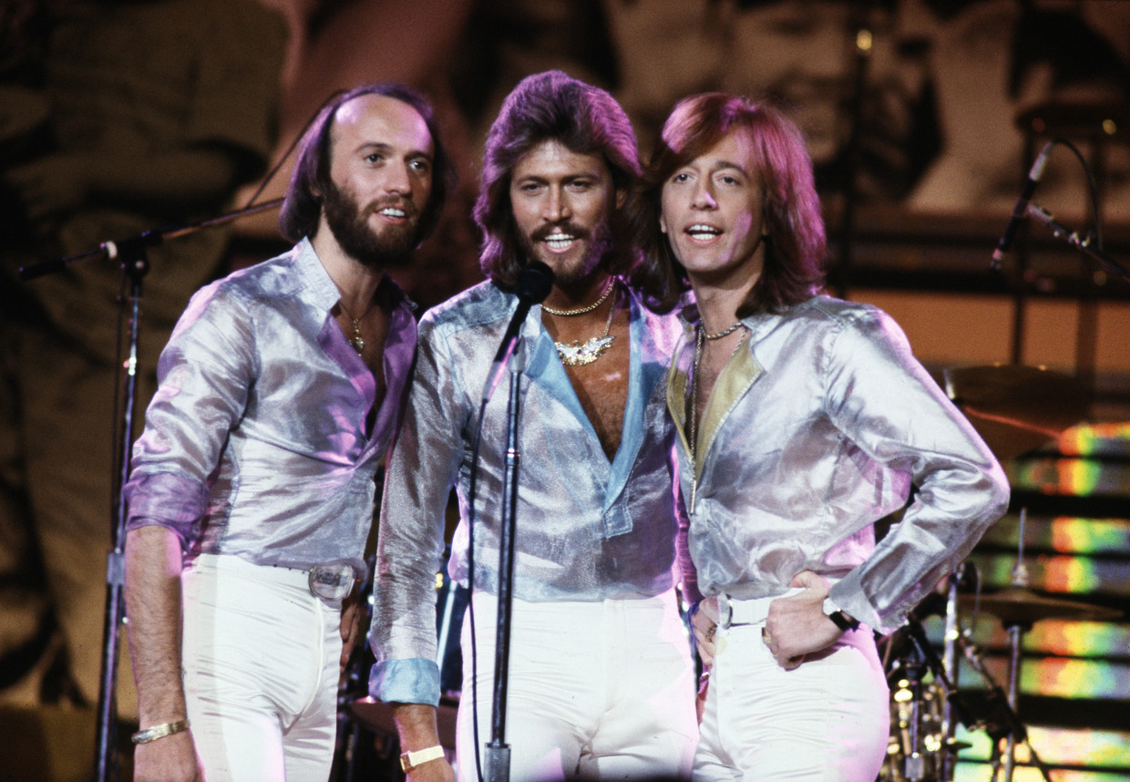 Maurice , Barry en Robin Gibb. Beeld Getty Images