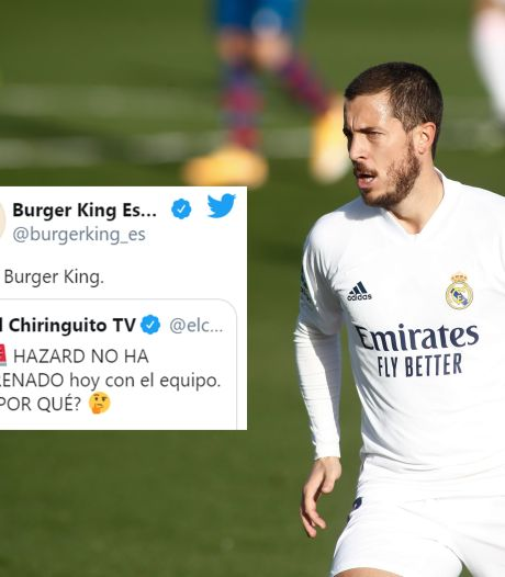 Burger King croit savoir pourquoi Eden Hazard n'était pas à l'entraînement avec le Real Madrid