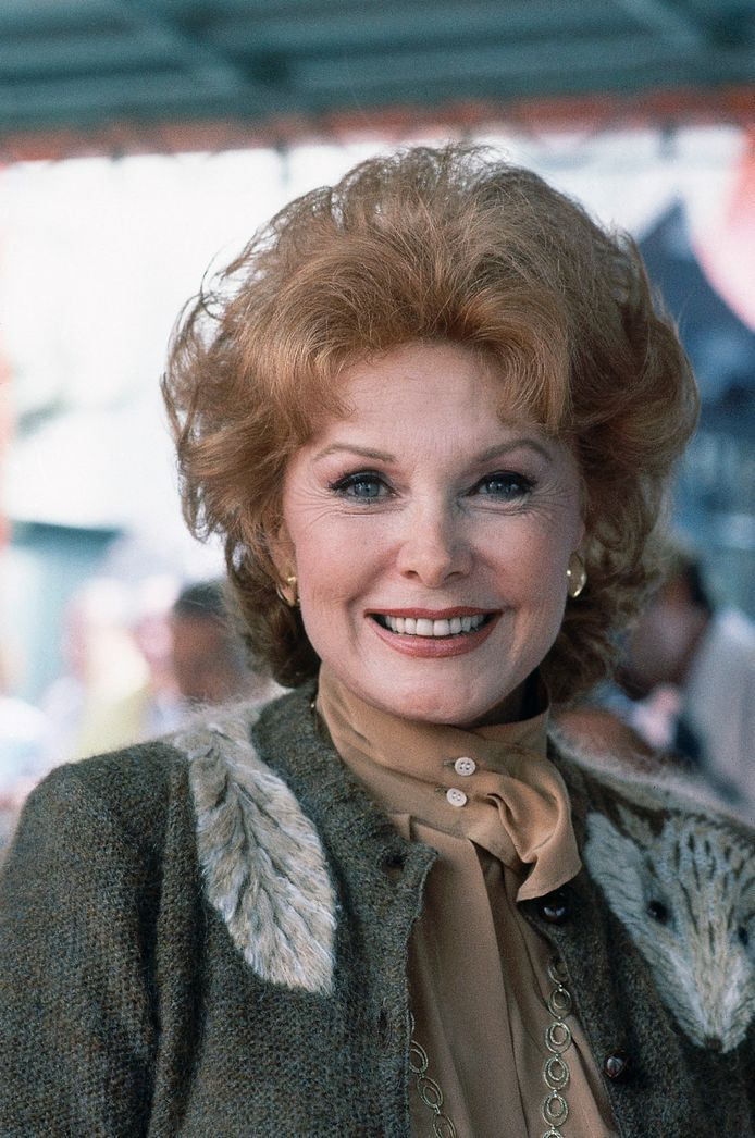 Actrice Rhonda Fleming, een foto uit 1981.
