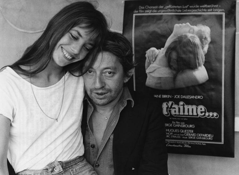 Serge Gainsbourg en Jane Birkin Beeld Getty Images