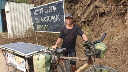 """Wereldreiziger Grégory Lewyllie viert oudejaar in India: """"Reizen per fiets is het mooiste geschenk op aarde"""""""