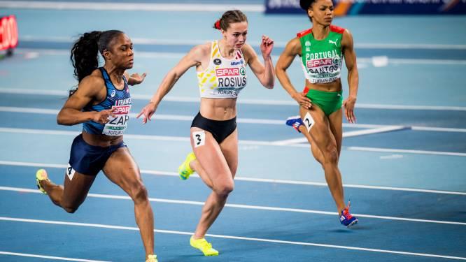 Rani Rosius haalt halve finale op haar eerste EK indoor