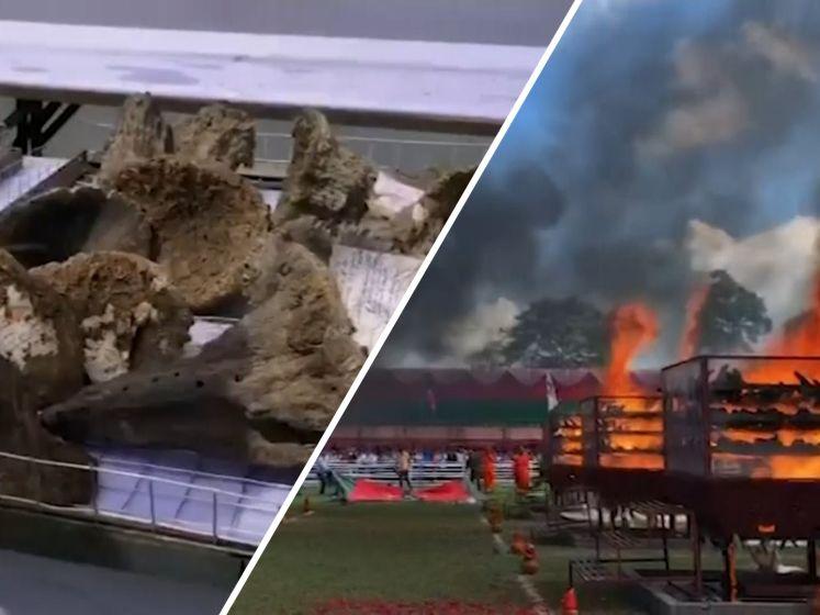 India verbrandt 2500 hoorns van neushoorns