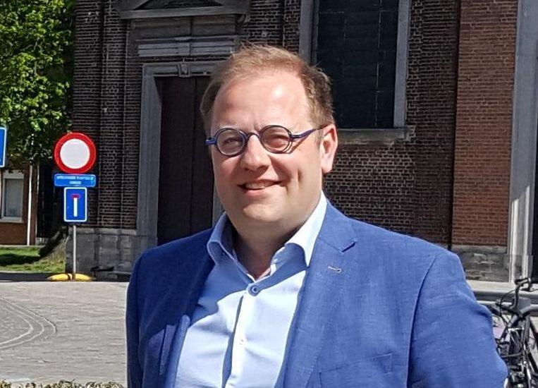 Burgemeester van Niel Tom De Vries (Open Vld). Beeld Ben Conaerts