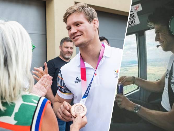 HERBELEEF. Héérlijke beelden: Matthias Casse als held onthaald bij thuiskomst - Ook Wout van Aert, na lift in helikopter, weer thuis