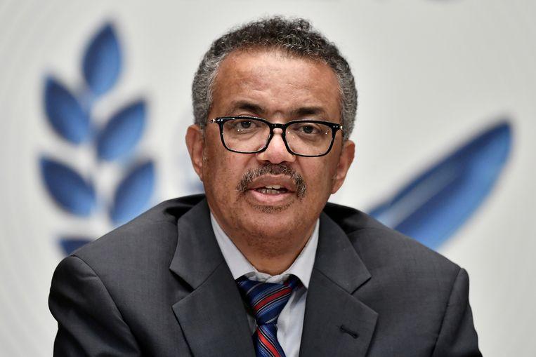 WHO-topman Tedros Adhanom Ghebreyesus: 'Dit is een waarschuwing voor alle regeringen over de hele wereld.' Beeld REUTERS