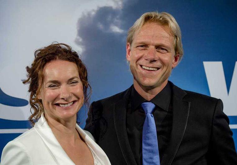 Televisiepresentator Menno Bentveld en zijn partner. Beeld anp