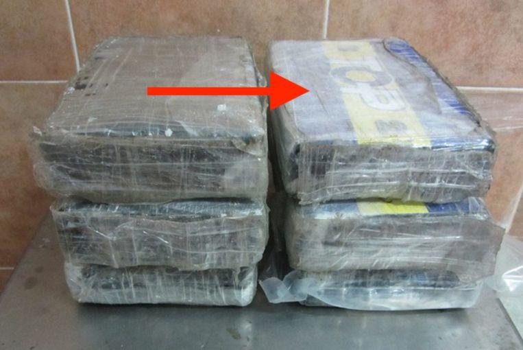 Ook op een partij cocaïne die is aangetroffen op de grens tussen Spanje en Marokko, staat het handelsmerk 'Top'.