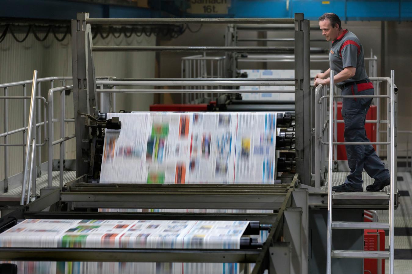 Archieffoto van de drukkerij in Best.