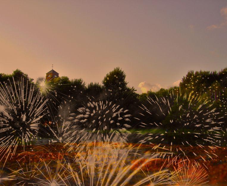 Het vuurwerk vindt vanaf 22 uur plaats boven de kasteelvijver.