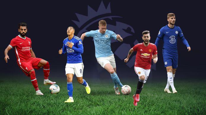 Salah, Tielemans, De Bruyne, Fernandes en Werner moeten de sterren van dit seizoen worden.