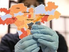 KAART | West-Betuwe met zes coronadoden hard getroffen; virus leeft weer op in West Maas en Waal