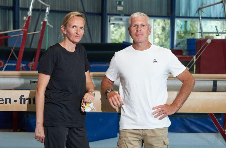 Turncoaches Marjorie Heuls en Yves Kieffer in Gent. Beeld Photo News