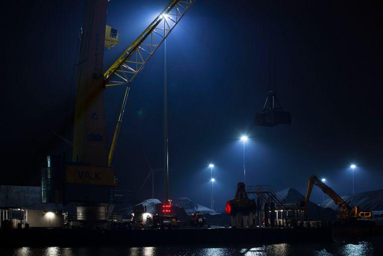 De Zanzibarhaven in Amsterdam, waar het steenbedrijf Graniet Import Benelux vorig jaar vervuild water loosde. Beeld Hollandse Hoogte / Thomas Schlijper