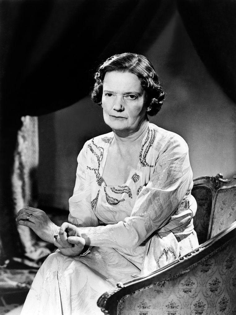 Lady Cynthia Asquith in de jaren vijftig.  Beeld ullstein bild via Getty Images