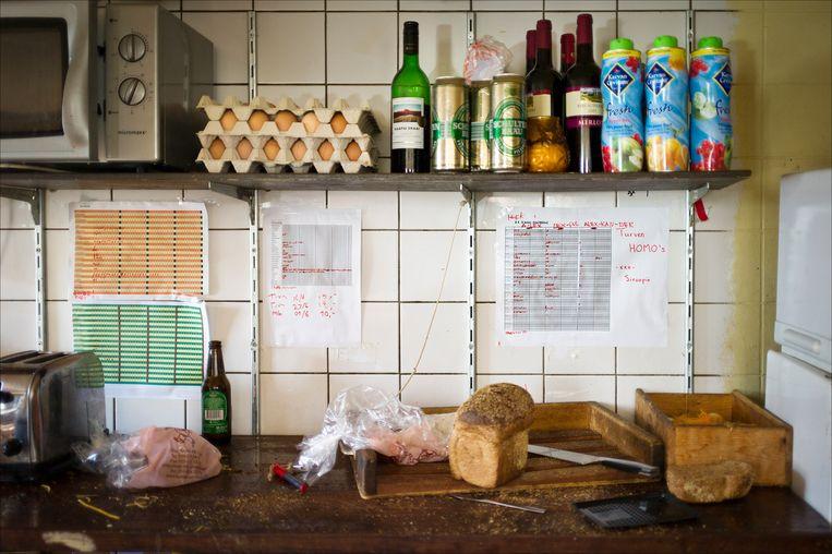 Keuken van een studentenhuis in Delft. Beeld ANP