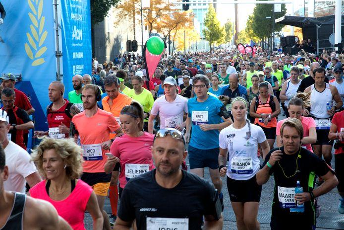Start van de Marathon Eindhoven
