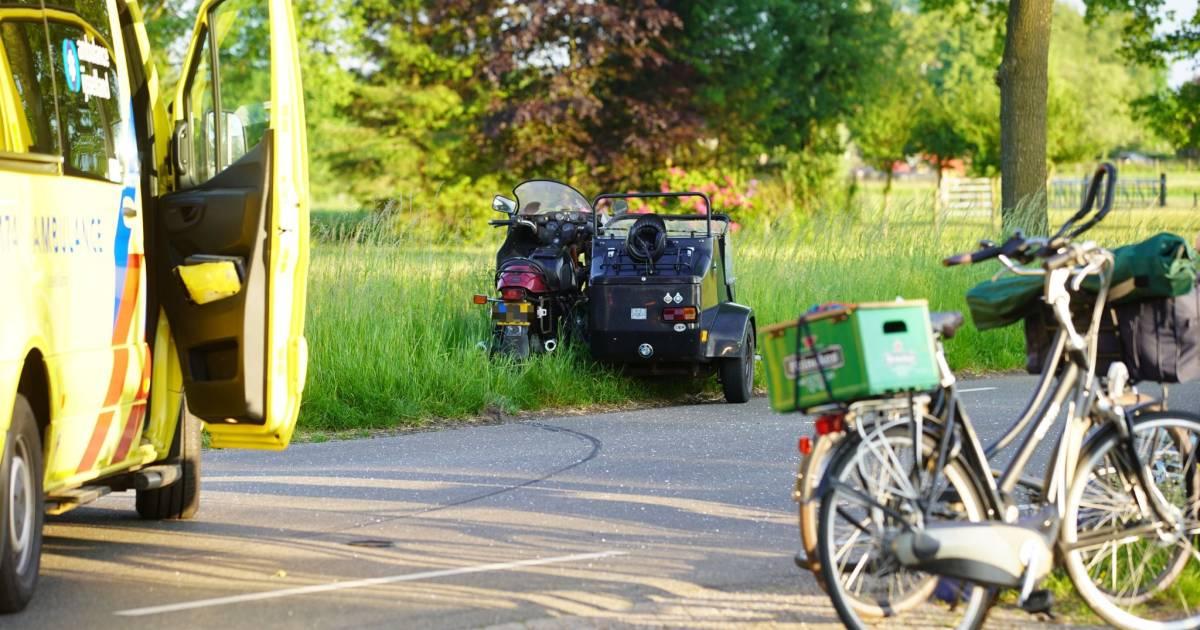 Jonge fietser gewond na aanrijding met zijspan in Heeten.