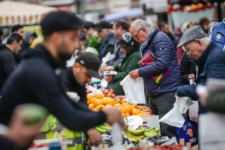 De versmarkt in de Vennestraat.