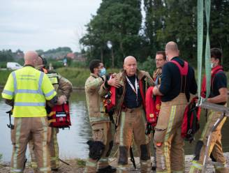Brandweer zoekt naar auto die in Gavere de Schelde is ingedoken