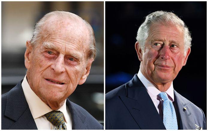 Prins Philip en prins Charles.