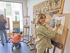 Schetsen, fotograferen, schilderen...: kunstenaars in de dop leren van alles in Aardenburg