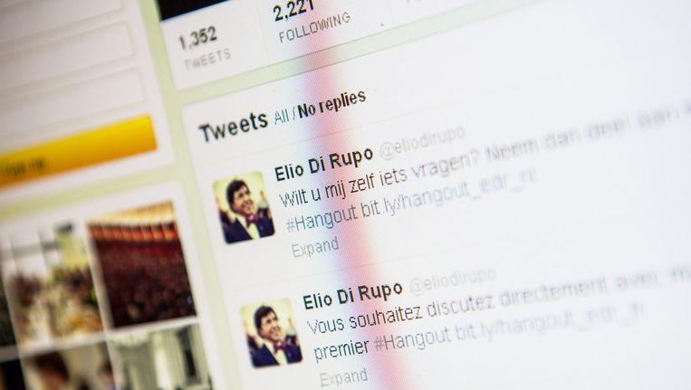 Ook premier Di Rupo is aanwezig op Twitter. Beeld BELGA