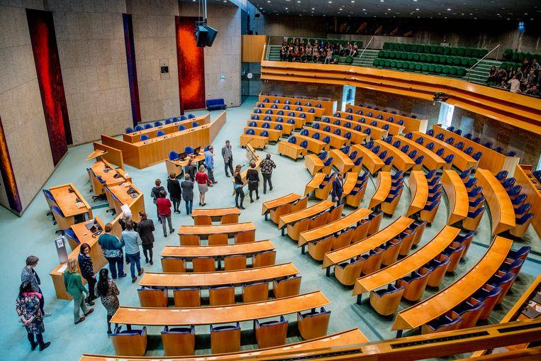 De Tweede Kamer, van bovenaf. Beeld Robin Utrecht