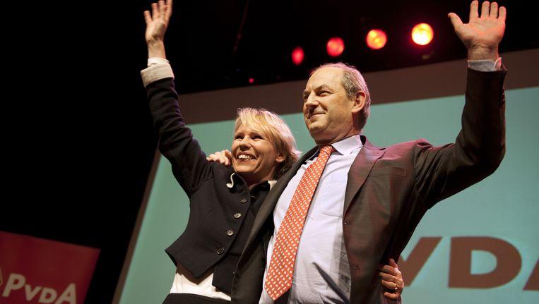 Marleen Barth vorig jaar met de inmiddels afgetreden Job Cohen. Beeld ANP
